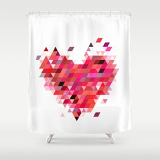 Heart1 Red Shower Curtain