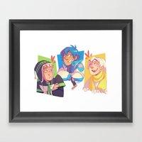 Blue Baby Robot Nerd Tra… Framed Art Print