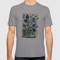 Floral 20 Mens Fitted Tee Athletic Grey SMALL