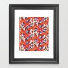 Art Deco Floral Repeat Framed Art Print