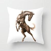 Ink Horse Throw Pillow