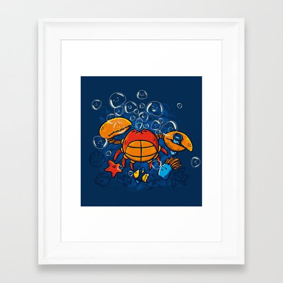 Jellyfishes Birth Framed Art Print