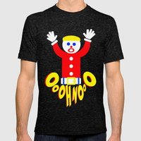 Oh No!     Mr. Bill     … Mens Fitted Tee Tri-Black SMALL