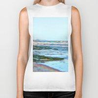 Beautiful abstract ocean view Biker Tank