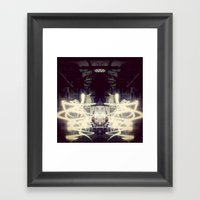 Lights & Mirrors Framed Art Print