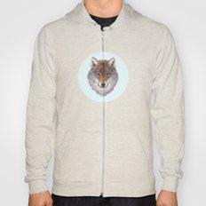 Grey wolf portrait Hoody