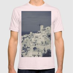 Santorini, Greece 2 Mens Fitted Tee Light Pink SMALL