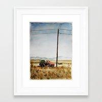 Watercolor Taos Framed Art Print
