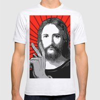 Jesus Bane #00 Mens Fitted Tee Ash Grey SMALL