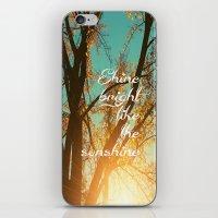 Shine Bright Like the Sunshine iPhone & iPod Skin