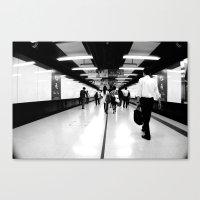 Underground [Black & Whi… Canvas Print