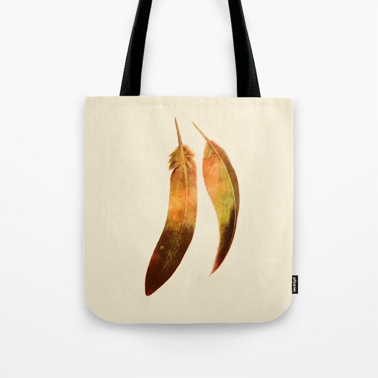 Gold Feathers  Tote Bag
