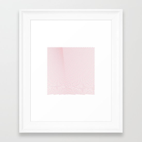 #66 Red space – Geometry Daily Framed Art Print