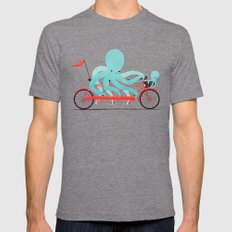 My Red Bike Mens Fitted Tee Tri-Grey SMALL