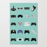Console Evolution Canvas Print