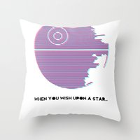 Wish Upon A Death Star Throw Pillow