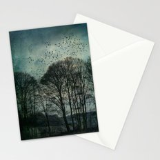 Textured Trees Stationery Cards
