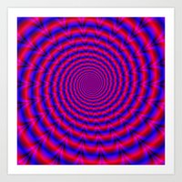 Red And Blue Spiral Art Print