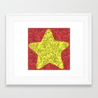 Steven's Star Framed Art Print