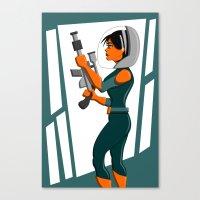 Spacewoman Canvas Print