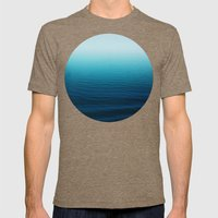 Deep Blue Sea Mens Fitted Tee Tri-Coffee SMALL