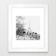 Paris Black & White Framed Art Print