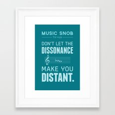 The Dissonance — Music… Framed Art Print