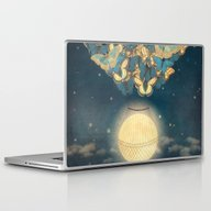 Laptop & iPad Skin featuring The Rising Moon  by Paula Belle Flores