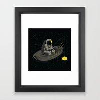 Lonely Fishing Framed Art Print
