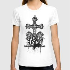 Of Lions & Lambs Womens Fitted Tee White SMALL