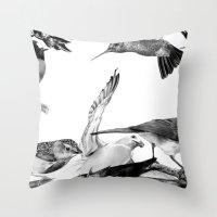 A Volery Of Birds Throw Pillow