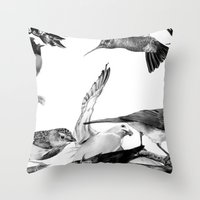A Volery Of Birds Throw Pillow