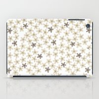 Grey and yellow flowers  iPad Case