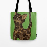 Giraffe Cat. Tote Bag