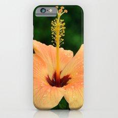 Peach Hibiscus Slim Case iPhone 6s