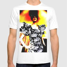 Vintage: Carmen White SMALL Mens Fitted Tee
