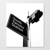 Canvas Print featuring South Tacoma Station by Vorona Photography