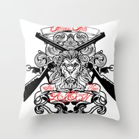 Stop Your Lion Throw Pillow