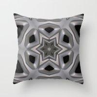 Abstract kaleidoscope of a wheel cover Throw Pillow