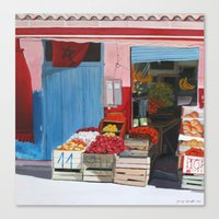 moroccan market Canvas Print