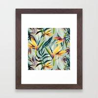 Bird of Paradise Pattern Variant 2 Framed Art Print