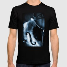 Double Bass SMALL Black Mens Fitted Tee