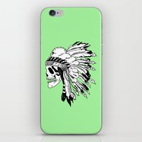 Black and White Native American  iPhone & iPod Skin