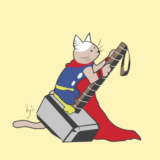 The Catty Thor Art Print
