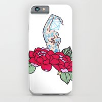 iPhone & iPod Case featuring pin-up and roses by bloodpurple