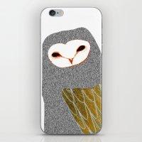 Barn owl, owl art, owl illustration, owls, nature, animal art,  iPhone & iPod Skin
