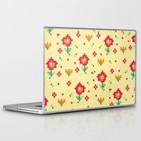 pixel Laptop & iPad Skins featuring Pixel by Kakel
