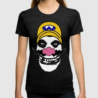 Misfit Wario Womens Fitted Tee Tri-Black SMALL