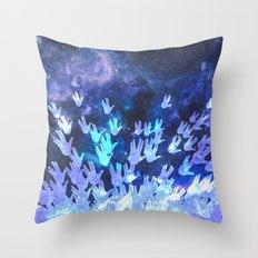 H.E.L.L.O. / blue version Throw Pillow