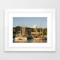Sailboats of St. George's Framed Art Print